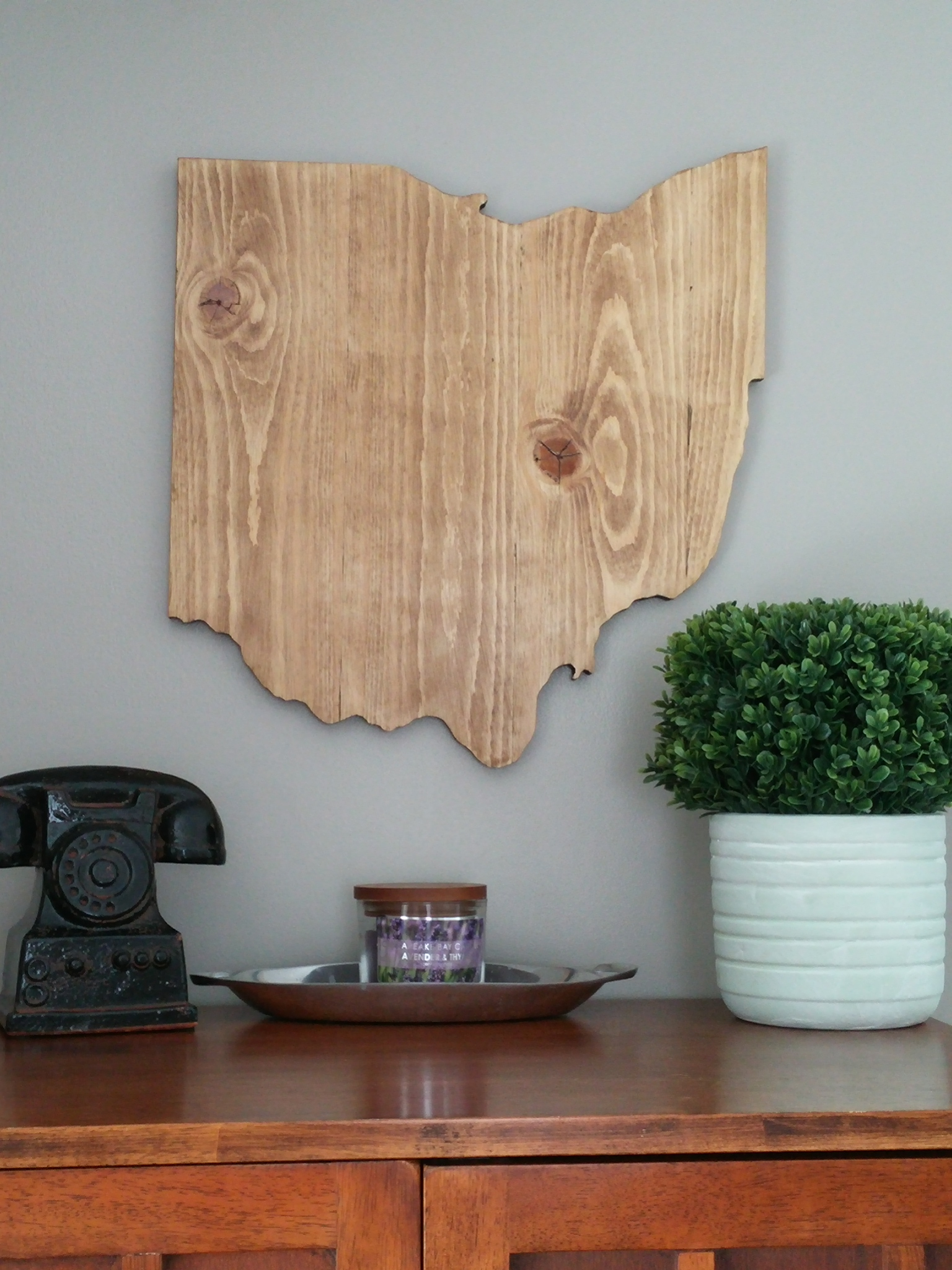 Rustic State of Ohio Wall Decor Wedding Guest Book Made